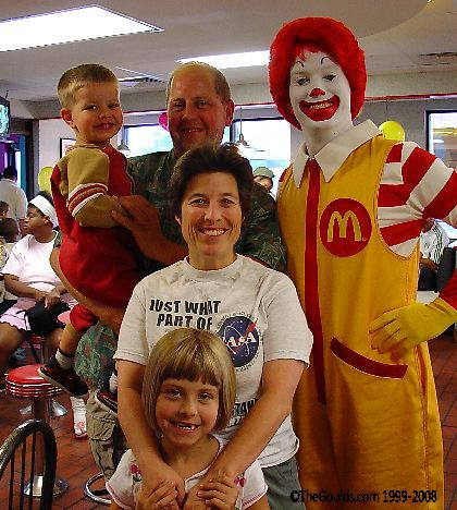 The Gould's and a clown.